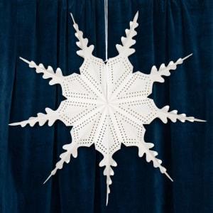 UND Julestjerne Snøfnugg Hvit 72cm