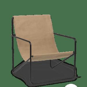Ferm Living Stor Desert Lounge Svart/Cashmere