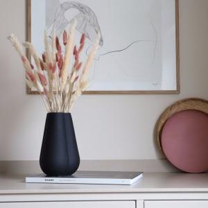 Cooee Clover Vase 25cm Svart