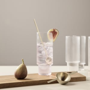Ferm living ripple long drink glass 4/sett