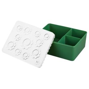 Blafre Matboks med rom Blomst Hvit/Grønn
