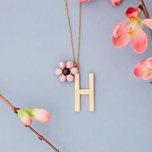 Design Letters Charm Blomst Rosa/Gull