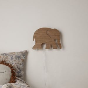 Ferm Living Lampe Elephant Smoked Oak