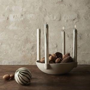 Ferm Living Bowl Lysestake Keramikk Stor
