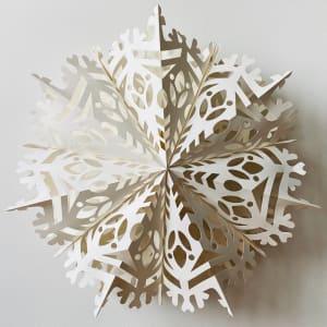 UND Adventstjerne Hvit Snøkrystall 60cm