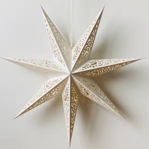 UND Adventstjerne Hvit 75cm