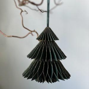 UND Hengepynt Juletre 12 cm Grønn