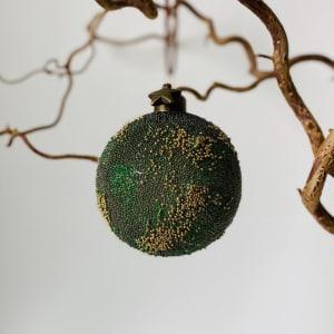 UND Julekule Glass Grønn/Gull Stjerne