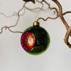 UND Julekule Vintage Grønn blank