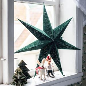 UND Adventstjerne Velur Grønn