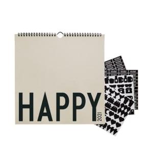 Design Letters Kalender Vegg 2021 Grå