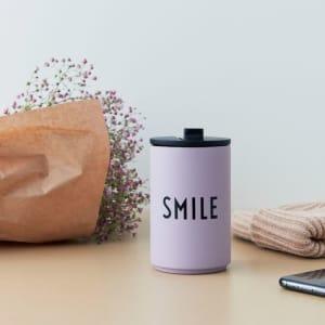Design Letters Termokopp Smile Lavendel