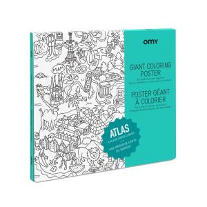 OMY Fargeleggingsplakat Atlas