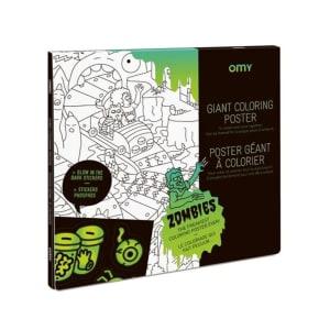 OMY Fargeleggingsplakat og Klistremerker Zombies