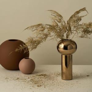 Cooee Pillar Vase 24cm Gold