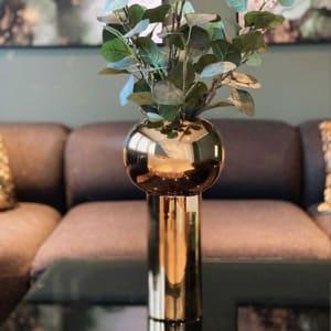 Cooee Pillar Vase 32cm Gold