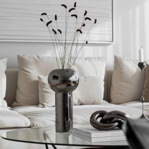 Cooee Pillar Vase 32cm Dark Silver