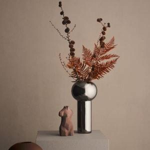 Cooee Pillar Vase 24cm Dark Silver