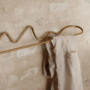 Ferm Living Curvature Håndkleholder Messing