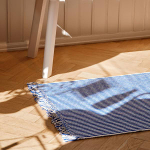 Hay Stripes and Stripes Teppe 60x200 Bluebell Ripple