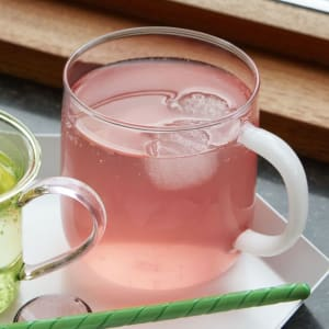 Hay Krus Borosilicate Rosa/Hvit 2pk