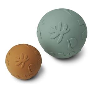 Liewood Thea Baby Ball Mustard/Peppermint 2pk