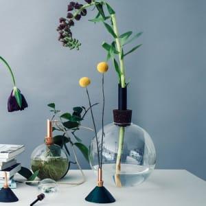 Scandinavia Form Glasilium Vase 14,5cm Sort