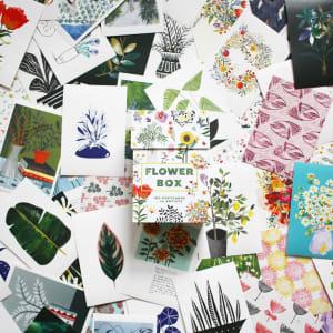 Postkort 100stk Flower Box