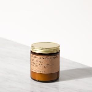P.F. Candle Co. Duftlys No. 4 Teakwood & Tobacco mini
