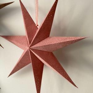 UND Adventstjerne Velur Rosa 60cm