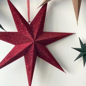 UND Adventstjerne Velur Rubinrød 60cm