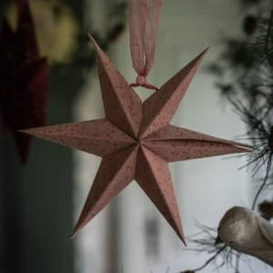 UND Adventstjerne Velur Rosa 20cm