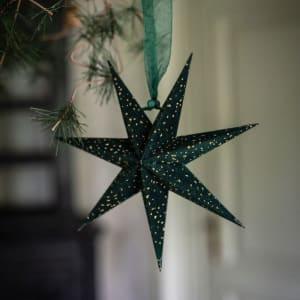 UND Adventstjerne Mini Velur Grønn 20cm