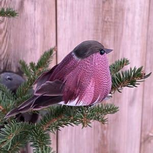 UND Julepynt m/klype Småfugl Purple