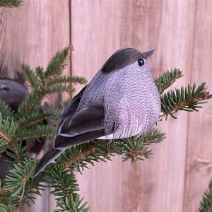 UND Julepynt m/klype Småfugl Grå