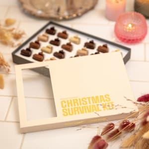 Simply Chocolate Gaveeske Christmas Survival kit 24-biter
