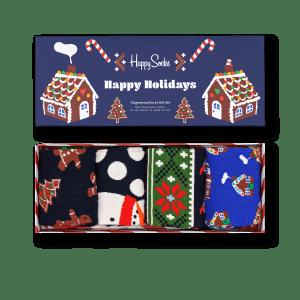 Happy Socks gaveeske Gingerbread 4 par str 41-46