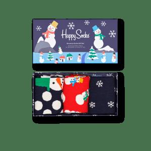 Happy Socks Gaveeske Snowman 3 par str 41-46