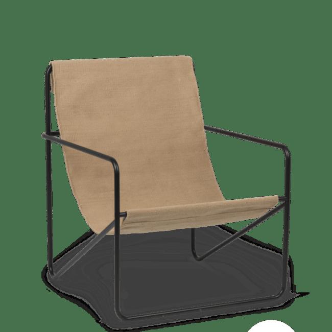 Desert Lounge stol i svartcashmere fra Ferm Living | Ting