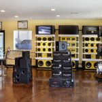 Products with Speakers in Showroom