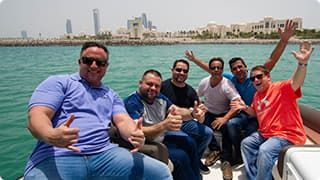 Tint World Employees on a boat ride