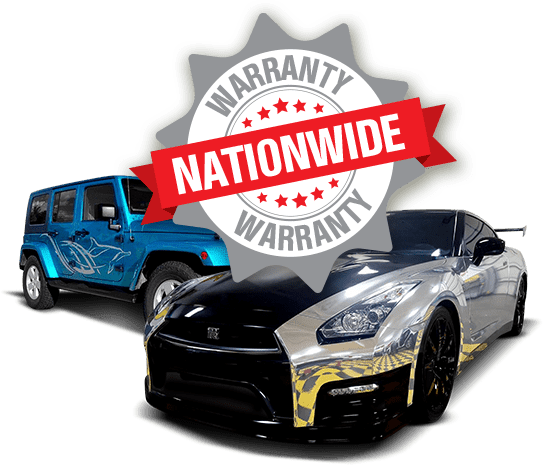 Two High End Vehicles and Nationwide Logo