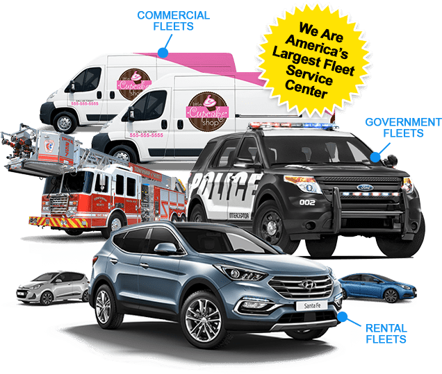 Fleet Services trucks