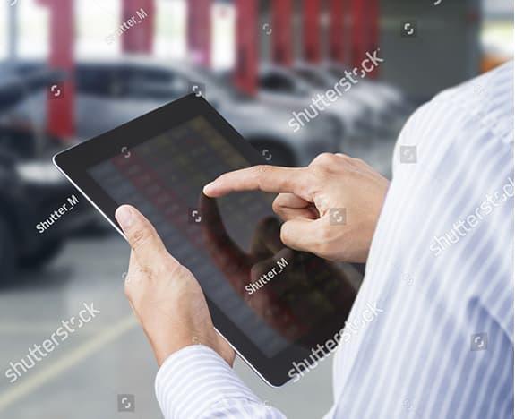 A Technician with an iPad