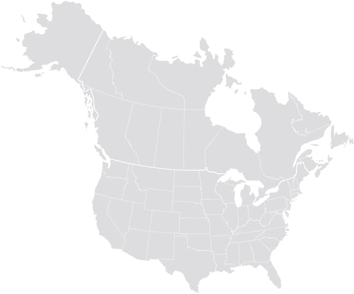 Grey-out map of US & Canada