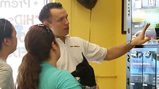 A Tint World franchisee helping a customer
