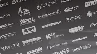 Banner with different brands.