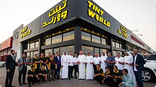 Tint World Store grand opening.