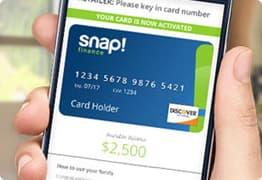 Snap! Credit card.
