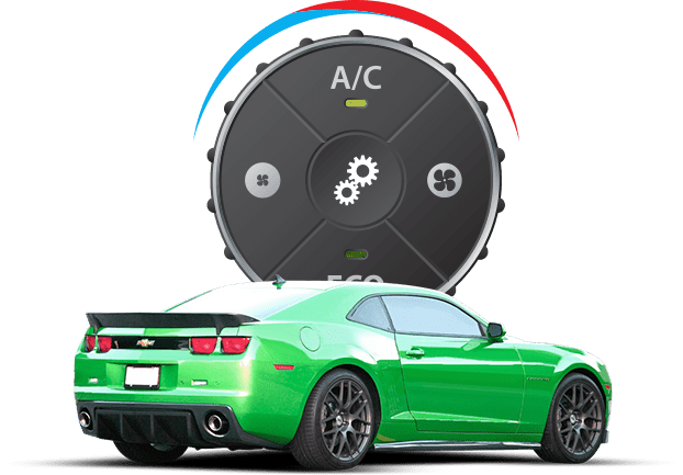 A/C control with sports car